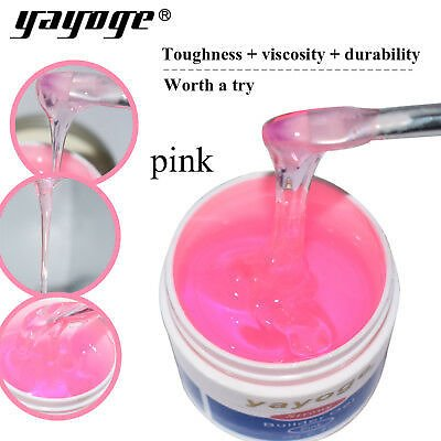 US STOCK E 2 Oz / 56g Pink Strong Builder Nail Extension Uv Led Gel YAYOGE