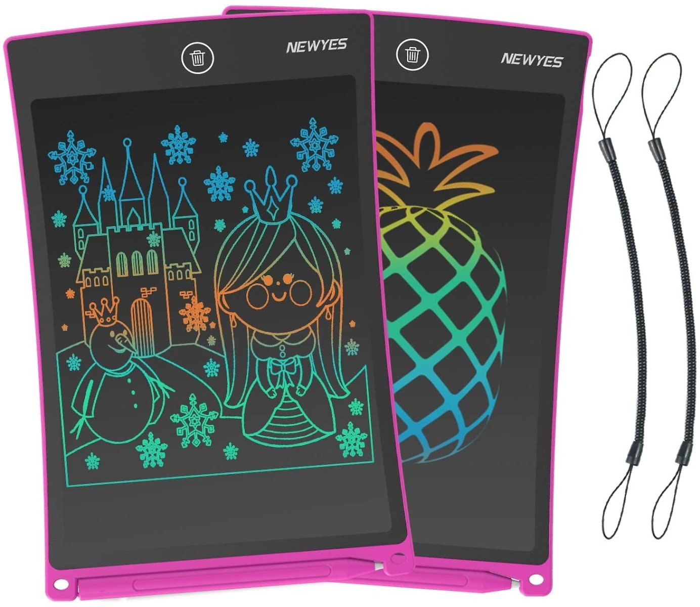 Save 50% On 2 Pack NEWYES LCD Writing Tablet 8.5 Inch Colorful Drawing Doodle Board