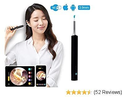 EXTRA 32% OFF Ear Wax Removal Endoscope,Ear Camera,Ear Scope,1080P FHD Wireless Ear Otoscope with 6 LED Lights