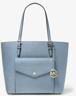Jet Set Large Leather Pocket Tote Bag | Michael Kors