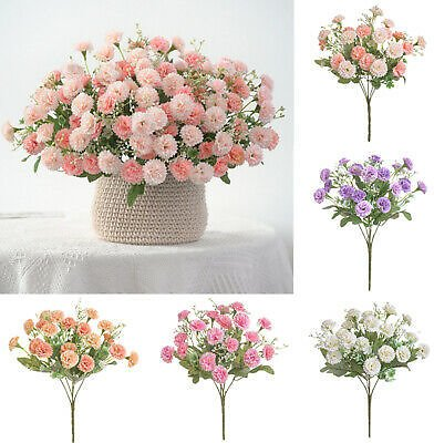 20 Heads Small Carnation Artificial Flowers Holding Flowers Lilac Fake Flowers