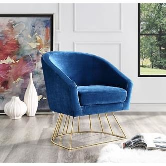 Inspired Home Inspired Home Esmeralda Accent Chair Metal Base