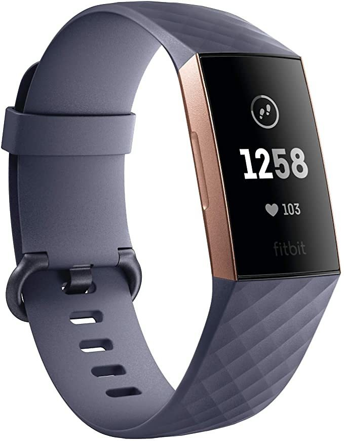 Fitbit Charge 3 Fitness Performance & Activity Tracker - Rose Gold/Blue Grey