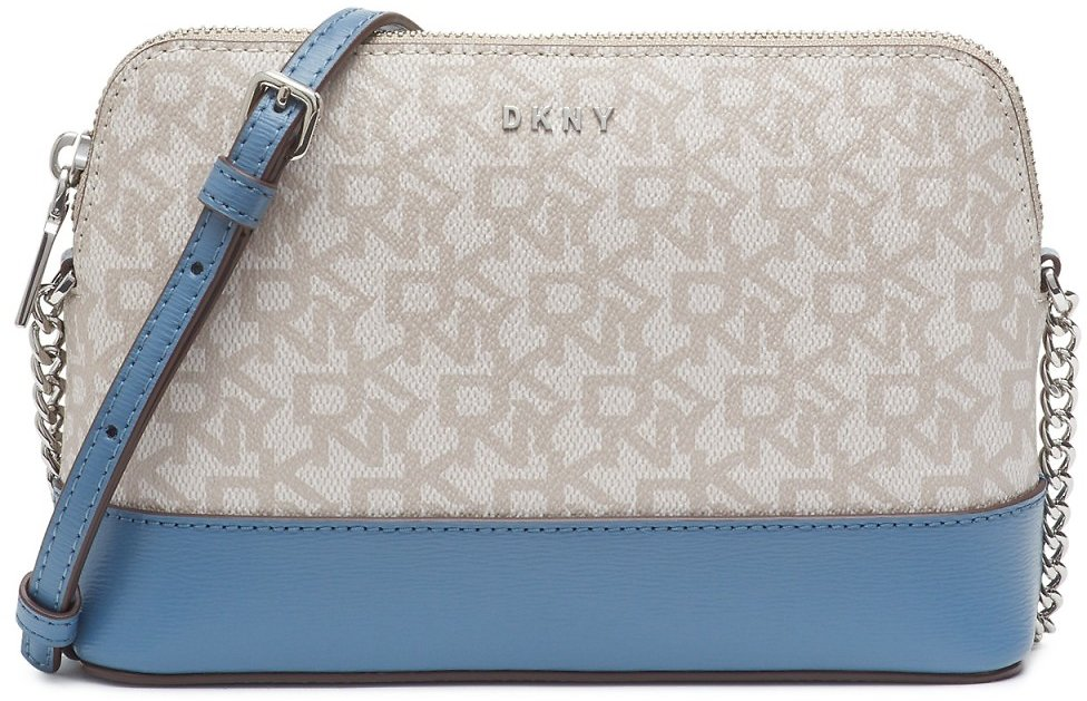 DKNY Bryant Dome Logo Leather Crossbody (2 Colors)