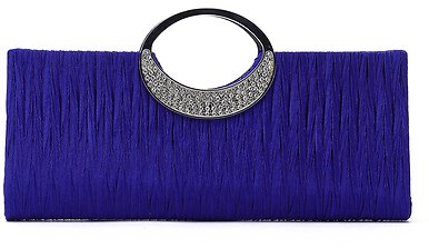 Blue Fashion Party Clutch Bags with Chain Strap - US$17.99 -YOINS