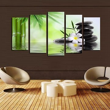 No Frame Green Huge Modern Abstract Wall Decoration Art Oil Painting Canvas SetHome DecorfromHome and Gardenon Banggood.com
