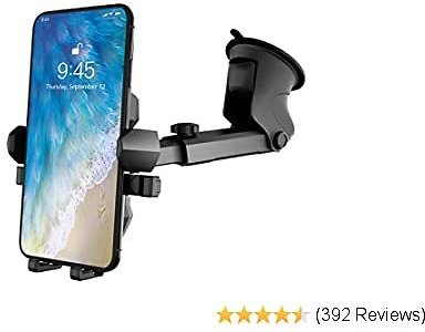 Phone Holder for Car, MANORDS Universal Long Neck Suction Car Phone Mount Compatible IPhone 11 Pro Xs XS Max XR X 8 8 Plus 7 Samsung Galaxy S10 S9 S8 LG Nexus Sony and More (Dark Gray)