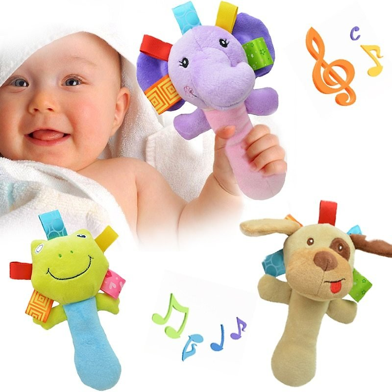 98% OFF  Newborn Baby Toys 0 12 Months Cartoon Animal Baby Plush Rattle Mobile Bell Toy Infant Toddler Early Educational Toys