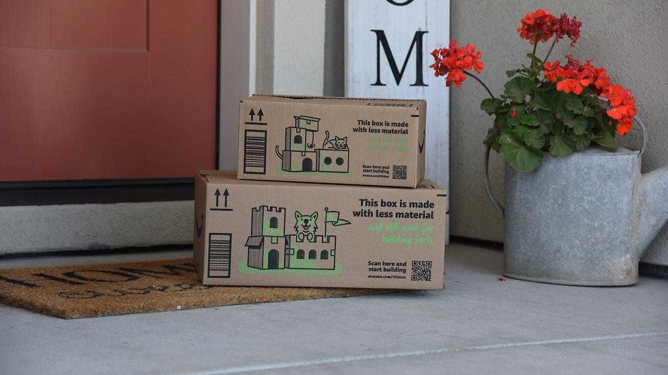 Amazon Introduces Boxes That Can Be Recycled Into Cat Condos, Forts and Other Creations