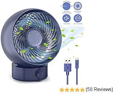 Gafild Mini USB Powered Desk Fan, Personal Fan Portable Small Table Quiet Fan for Car Office Room Outdoor Household Traveling