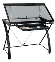 Contemporary Glass Top Drafting Table By Artist's Loft™