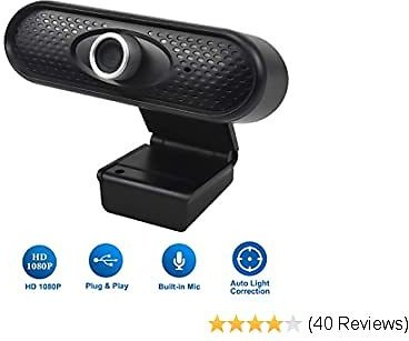 Doryum 1080P HD Webcam with Microphone, PC Laptop Desktop USB Webcams CMOS Sensor, Dynamic Resolution Pro Streaming Computer Camera for Video Calling, Recording, Conferencing, Gaming