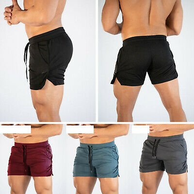 Men's Casual Gym Shorts Training Running Sports Pants Trousers Workout Jogging