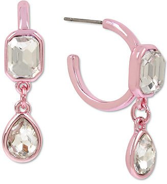 72% Off BCBGeneration Crystal Dangle Hoop Earrings & Reviews - Earrings - Jewelry & Watches