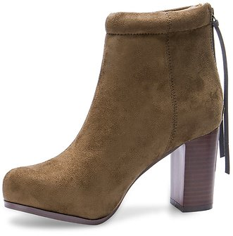 Suede High Ankle Boots in Khaki - US$42.99 -YOINS
