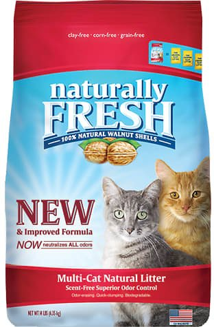 Naturally Fresh Unscented Quick-Clumping Formula Multi-Cat Litter, 14 Lbs. | Petco