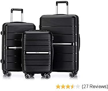 Luggage Sets 3 Piece Hardside and Lightweight Suitcase