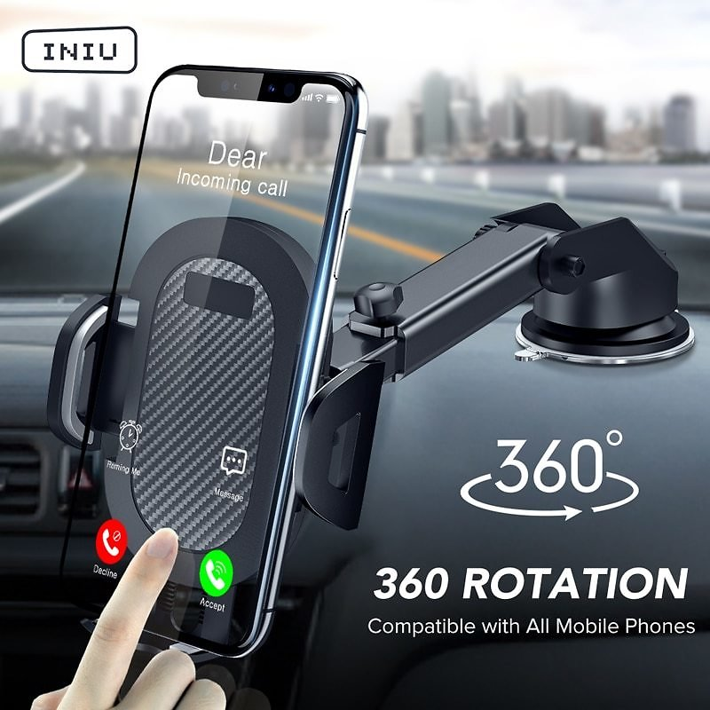 52% OFF INIU Sucker Car Phone Holder Mobile Phone Holder Stand in Car No Magnetic GPS Mount Support For IPhone 11 Pro Xiaomi Sam