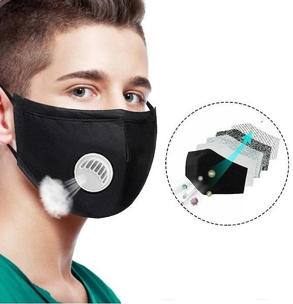Air Purifying Face Mask in Cotton PM2.5 Filter Anti Dust