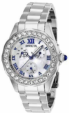 Invicta Women's Angel 28463 38mm White Dial Stainless Steel Watch 886678339358