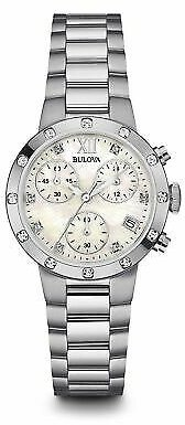 Bulova 96R202 Women's Chronograph Mother of Pearl Quartz Watch 42429530102