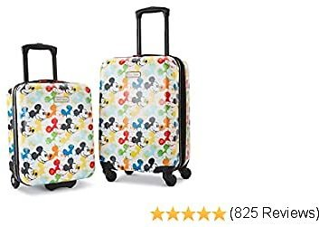 American Tourister Disney Hardside Luggage with Spinner Wheels, Mickey Mouse 2, 2-Piece Set (18/21)