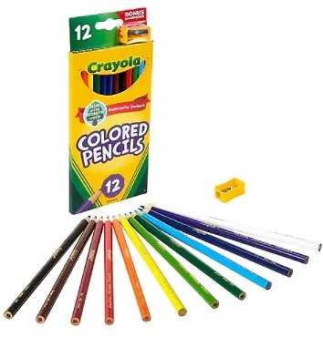12-Pack Crayola Colored Pencils