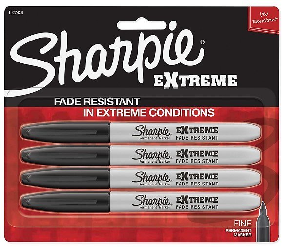4-Ct. Sharpie Extreme Permanent Markers, Black