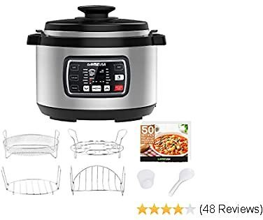 GoWISE USA GW22709 Ovate 9.5-Qt 12-in-1 Electric Pressure Cooker Oval with Slow Cook