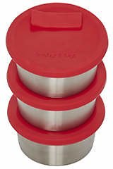 Instant Pot Official Stainless Steel Baking Cups with Silicone Lids