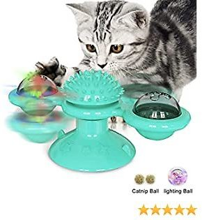 3 in 1 Interactive Rotating Turntable Cat Toy