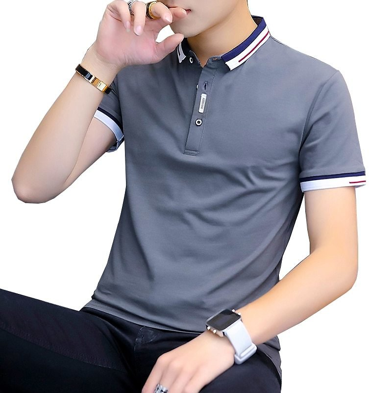 US $14.22 60% OFF|BROWON 2020 Summer Casual Polo Shirt Men Short Sleeve Turn Down Collar Slim Fit Sold Color Polo Shirt for Men Plus Size|Polo| - AliExpress