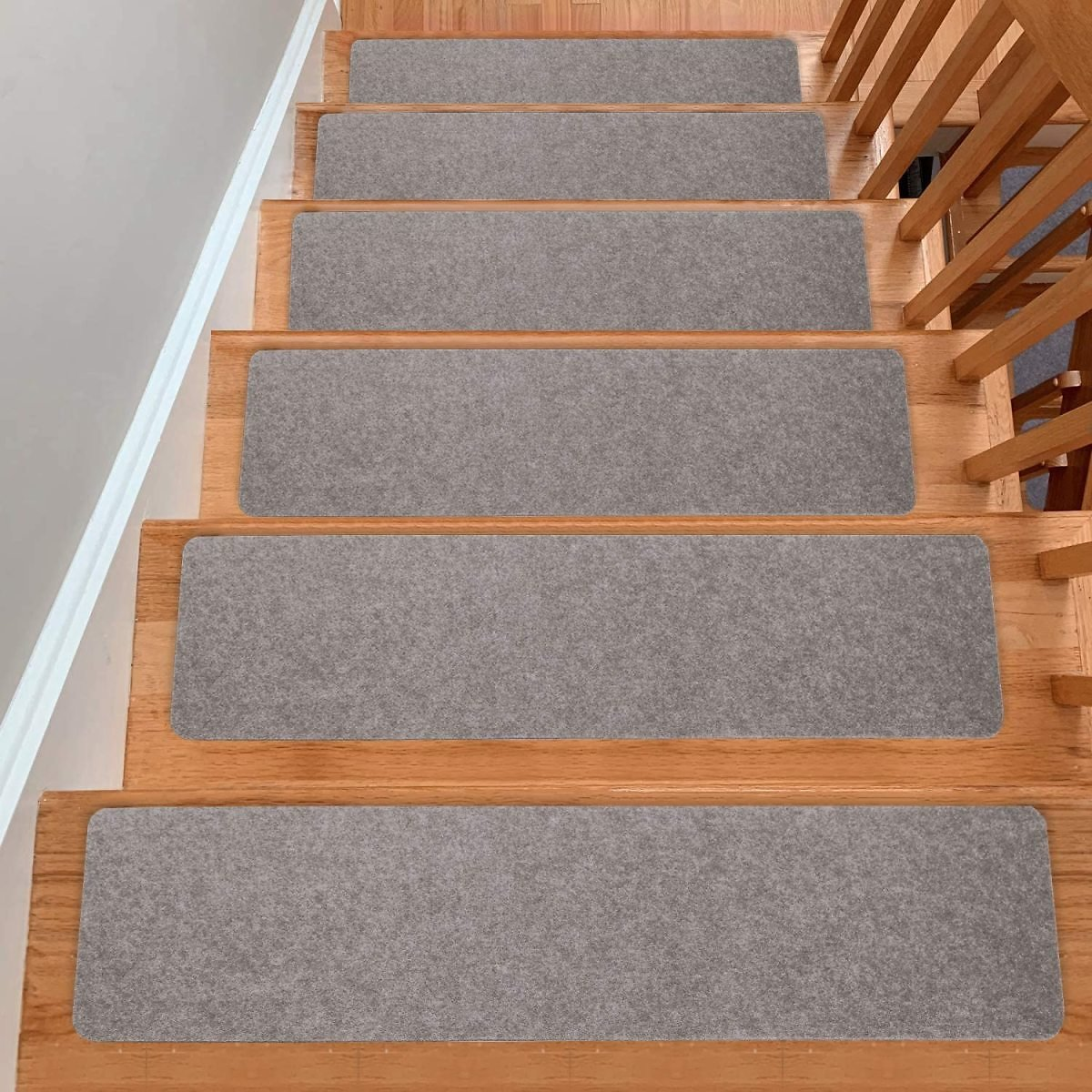 "YESURPRISE Carpets Stair Treads Set of 15, Non-Slip Self Adhesive Stairway Carpet Felts 8"" X 30"