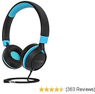 Mpow CHE1 Kids Headphones Boys, Wired Headphones for Kids Teens Children with Volume Limit, Foldable Adjustable On-Ear Headphones for School, Travel, Compatible with Cellphones, Tablets, PC