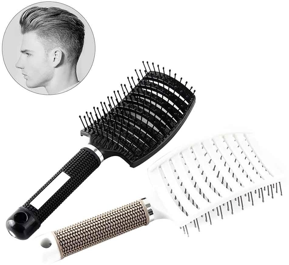 US $2.76 32% OFF|Curved Vented Professional Detangling Comb Portable Home Massage Hair Brush Styling Tools Fast Drying Barber Hairdressing Salon| | - AliExpress