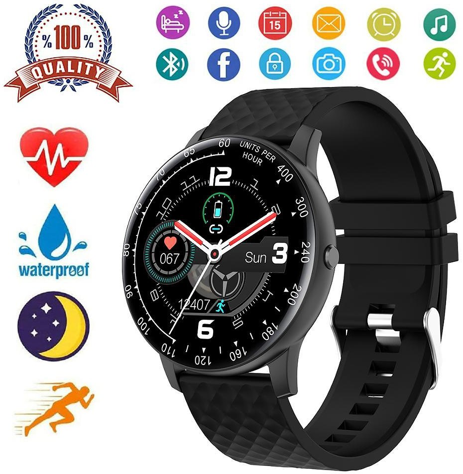 US $20.23 37% OFF|Smart Watch for Android IOS Phone Men Women Full Touch Screen Blood Pressure Heart Rate Sleep Monitor Waterproof Smartwatch|Smart Watches| - AliExpress