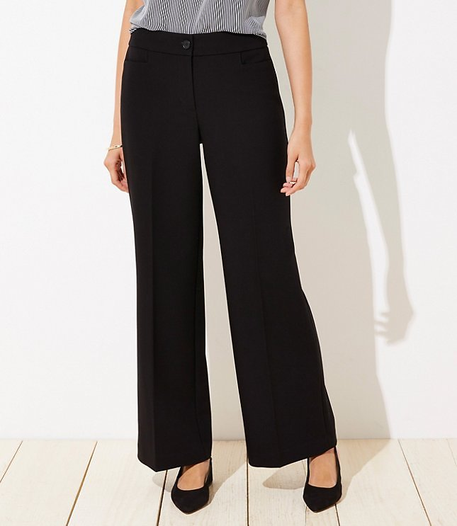Tall High Waist Wide Leg Trousers in Curvy Fit