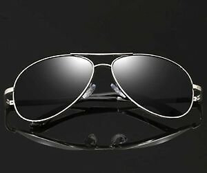Mens Retro Polarized Pilot Sunglasses Outdoor Drving Sport Metal Eyewear Glasses
