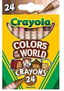 Crayola Crayons 24 Pack, Colors of The World