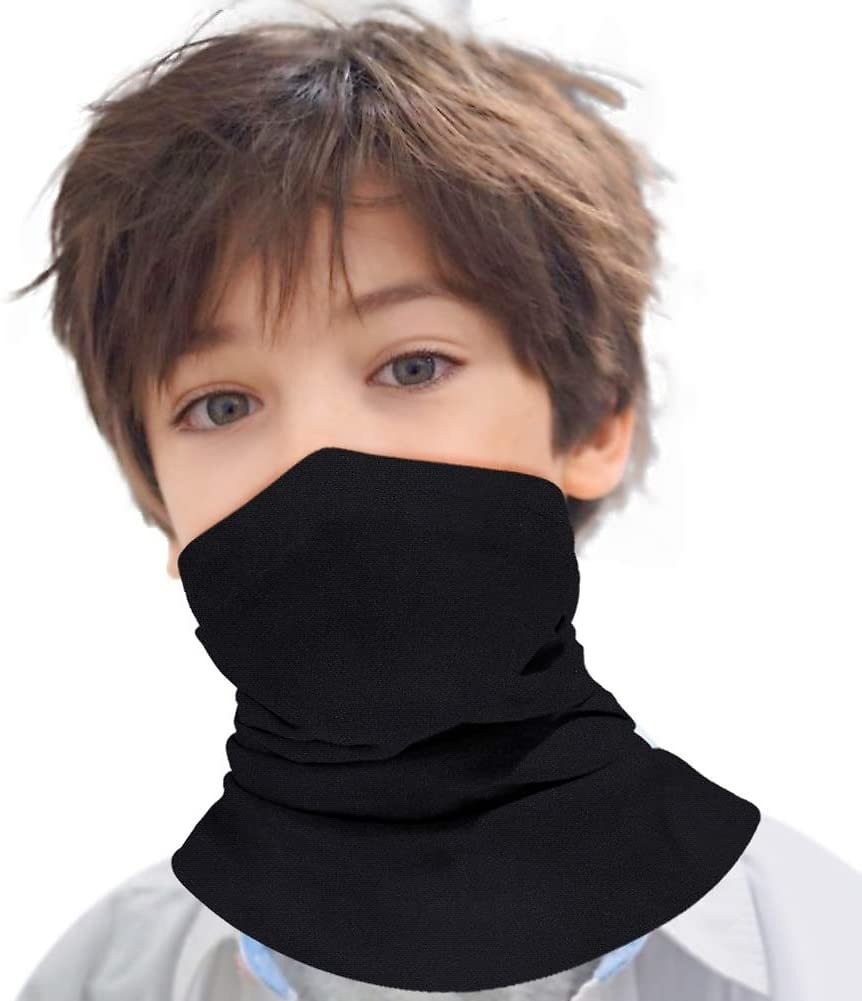 Save 61% On Neck Gaiters, Kids Breathable Face Cover Mask + Free Shipping for Prime Members