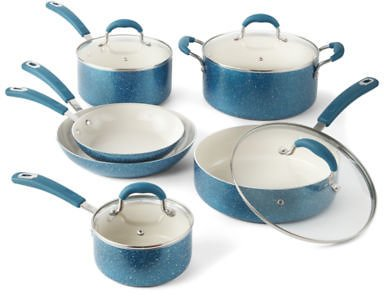 Cooks Speckle 10-pc. Cookware Set, Color: Teal - JCPenney