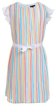 Tommy Hilfiger Little Girls Pleated Chiffon Dress & Reviews - All Girls' Dresses - Kids