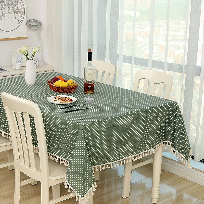 US $8.43 47% OFF|Dot Plaid Table Cloth Dinner Rectangular Antiderapant Tablecloth Home Kitchen Tischdecke Decor Stripe Table Cover Lace Tassel|Tablecloths| - AliExpress