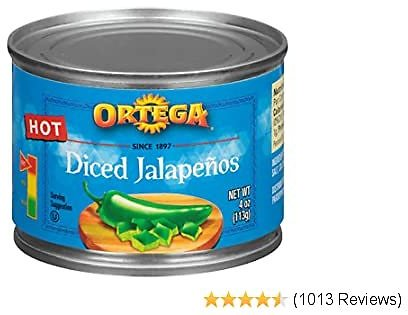 Ortega Peppers, Diced Jalapenos, Hot, 4 Ounce (Pack of 24) w/ S&S