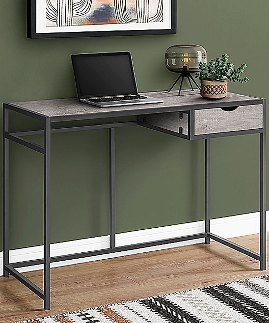 Love This Product Dark Gray One-Drawer Computer Desk