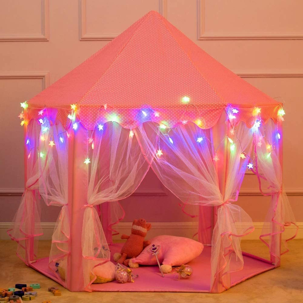 Princess Castle Play Tents for Girls, Girl Toy Gifts Age 3+