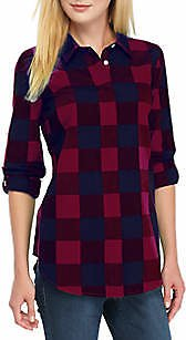 Crown & Ivy™ Women's Long Sleeve Plaid Tunic
