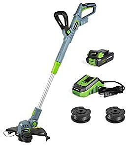 WORKPRO 20V Cordless String Trimmer/Edger, 12-inch, with 2Ah Lithium-Ion Battery, 1 Hour Quick Charger