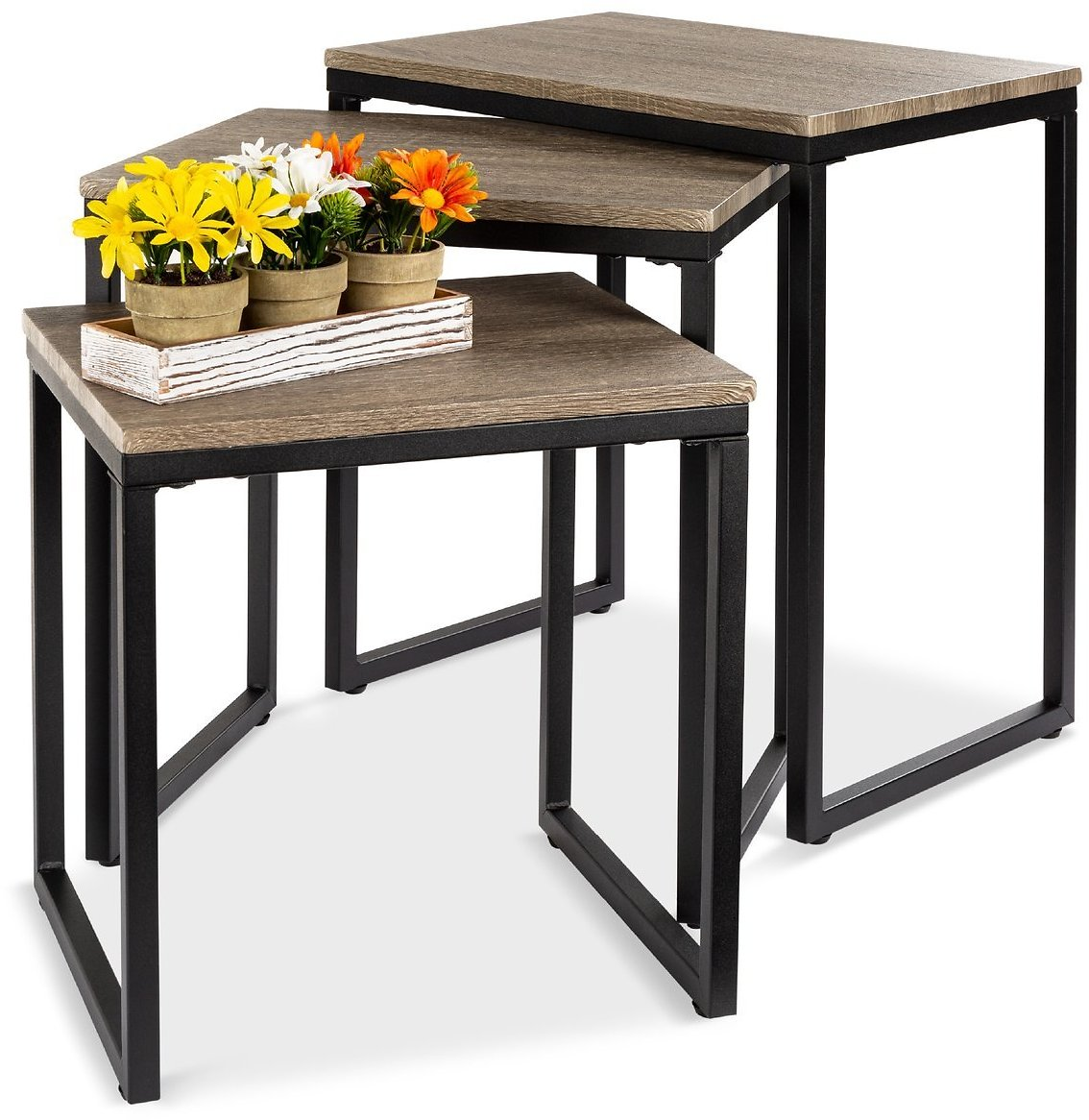 3-Piece Modern Stackable Nesting Coffee Table Home Accents Set