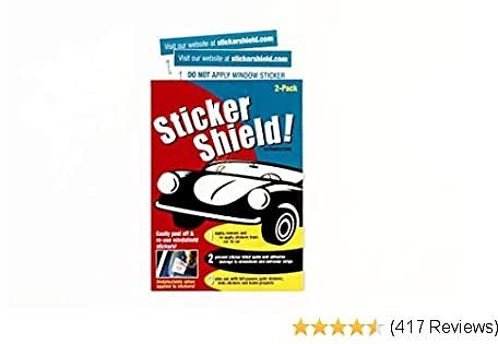 Sticker Shield - Windshield Sticker Applicator for Easy Application, Removal and Re-Application from Car to Car
